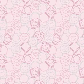 Light pink sweet love cookies
