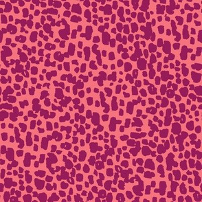 animal print - coral + wine