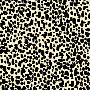 animal print - cream + black
