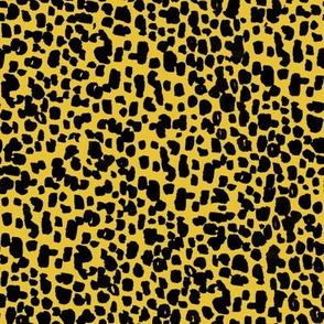animal print - mustard + black