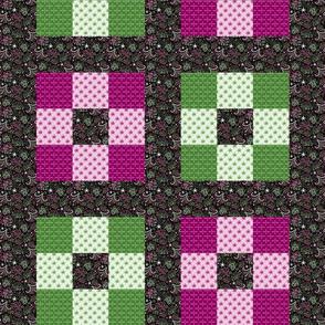 Celebrate | Azalea - 9 block cheater quilt