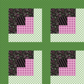 Celebrate | Azalea - Log Cabin cheater quilt