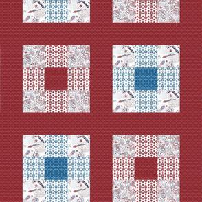 Celebrate | Americana - 9 block cheater quilt