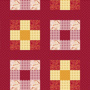 Celebrate | Chinese New Year - 9 block cheater quilt