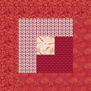 Celebrate | Chinese New Year - Log Cabin cheater quilt