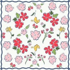 Folk Floral Hopscotch