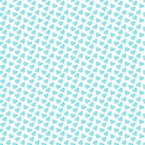 Turquoise hearts pattern