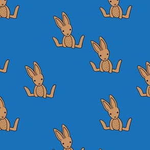 Little bunny love minimalist rabbit baby illustration for nursery classic blue brown boys