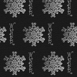 Snowflake Wonder Black and White