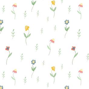 Wildflowers summer pattern