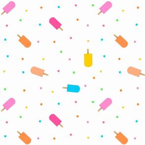 Popsicles on White