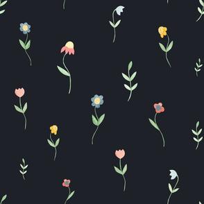 Wildflowers summer pattern.