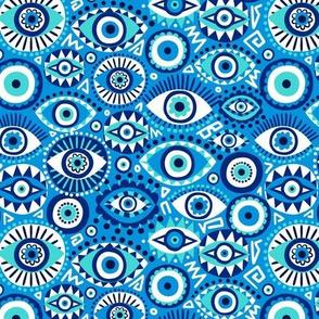 Evil eye blue small