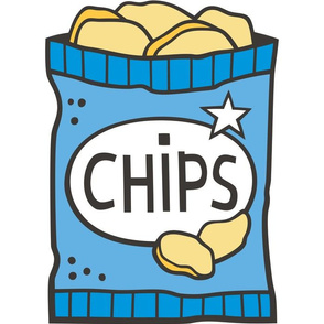 Potato Chips Blue Pillow Plush Plushie Softie Cut & Sew