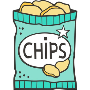 Potato Chips Mint Green  Pillow Plush Plushie Softie Cut & Sew