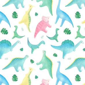 Watercolor dinosaur