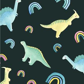 pattern dino rainbow 4
