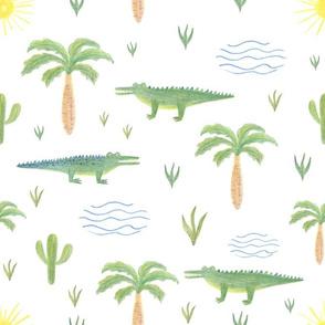 summer crocodile pattern