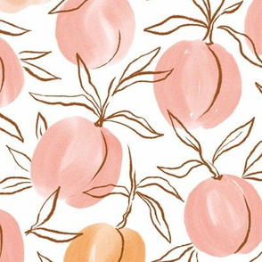 Watercolor peach in delicate pink colors