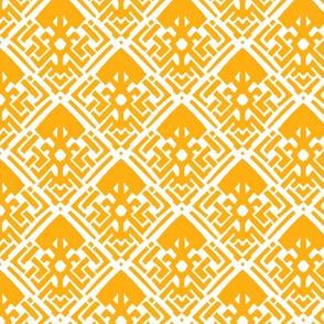 Abstract Diamond Saffron