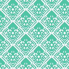 Abstract Diamond Biscay Green