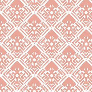 Abstract Diamond Coral Pink