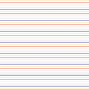 80s Rainbow Pastel Stripes