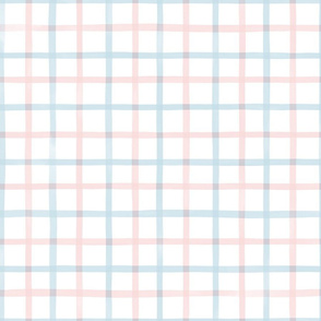 Medium Watercolor Gingham M+M Icing H2O by Friztin