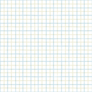 Small Watercolor Gingham M+M Tan H2O by Friztin