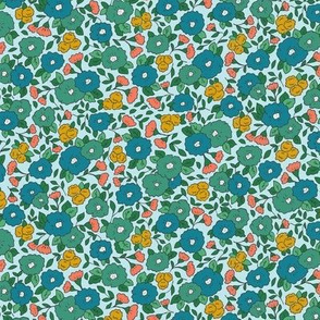 Liberty-Style Floral, greens