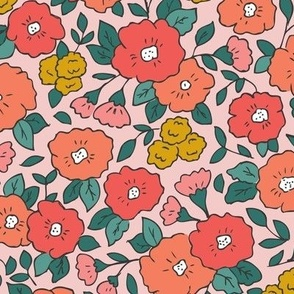 Liberty-Style Floral, pinks