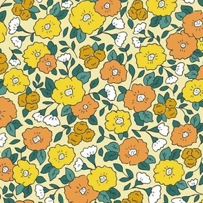 Liberty-Style Floral, yellows