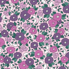 Liberty-Style Floral, purple