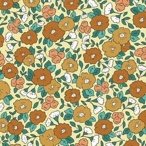 Liberty-Style Floral, tan