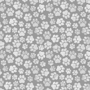 Grey Paw Prints