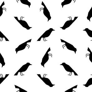 Vintage Black Birds Pattern