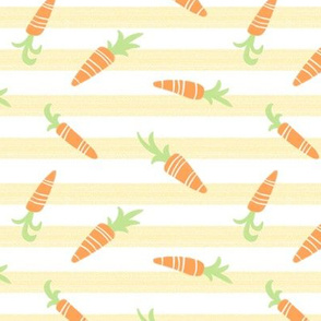Carrots on Yellow Stripe by Angel Gerardo