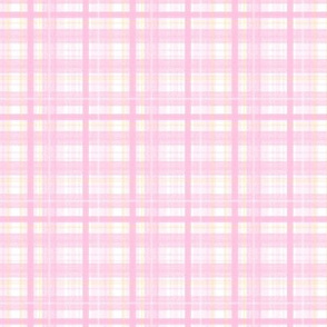 Pink Plaid - Small Scale by Angel Gerardo