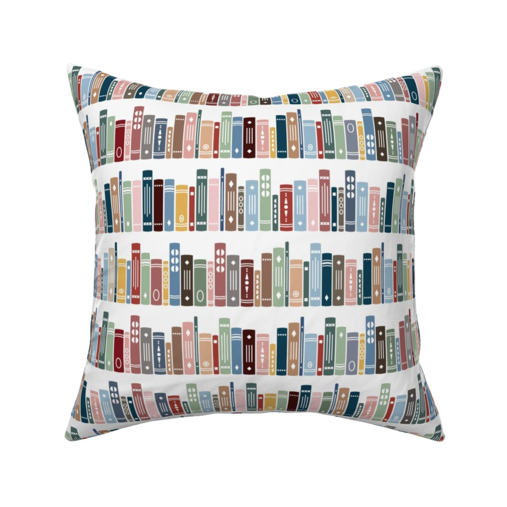 Catalan Throw Pillow featuring Happy Reading! - Medium by twigged