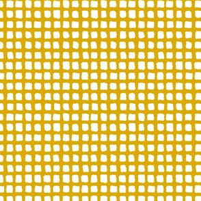 Choppy Checkers Micro Print Mustard