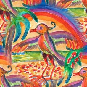 Fabulous colorful birds