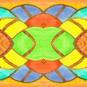 Colorful geometric stripes