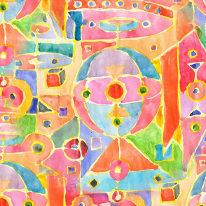 Multicolored geometric abstraction