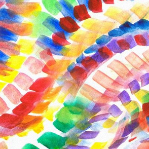 Multicolored spotted stripes in watercolor