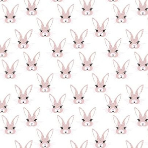 Baby rabbit illustration spring and easter animals hare  bunny design pastel beige pink girls nursery SMALL