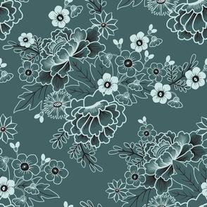 Pine Mint Floral 2
