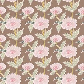 Pink Batik Flowers Vertical