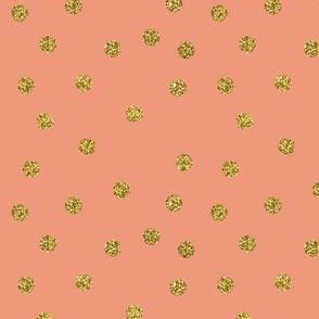Gold Glitter Dots Blush Pink