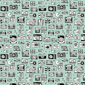 Vintage camera memories cool retro toy camera photagraphy design gender neutral mint SMALL