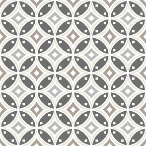 Kawung Grey Monochrome